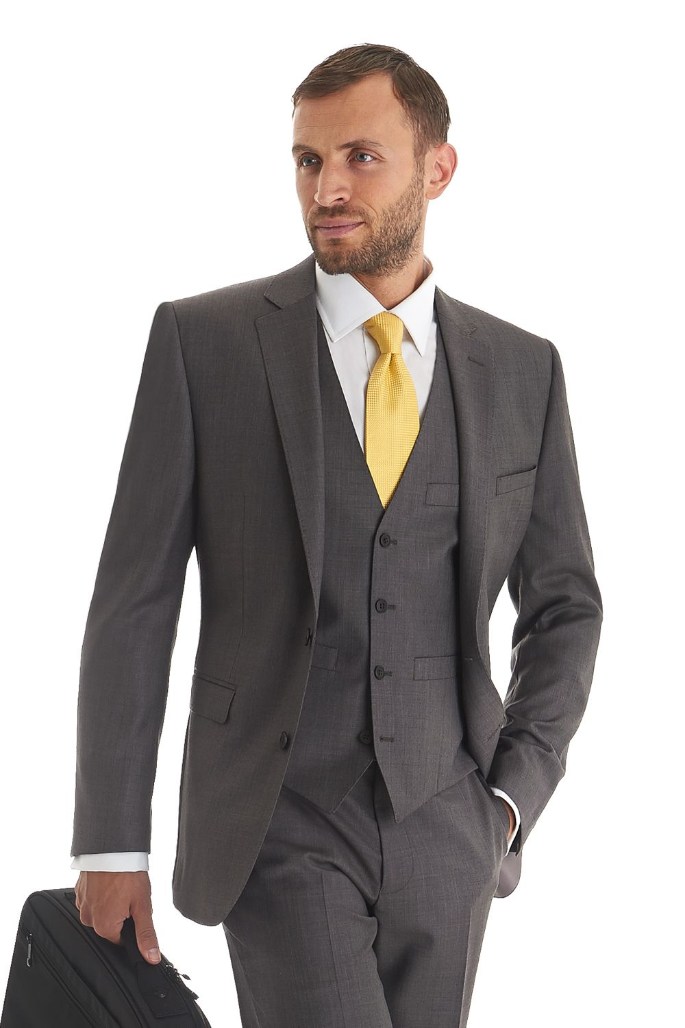 Grey men's suit from Moss | Georgia | Pinterest | A well, Taupe ...