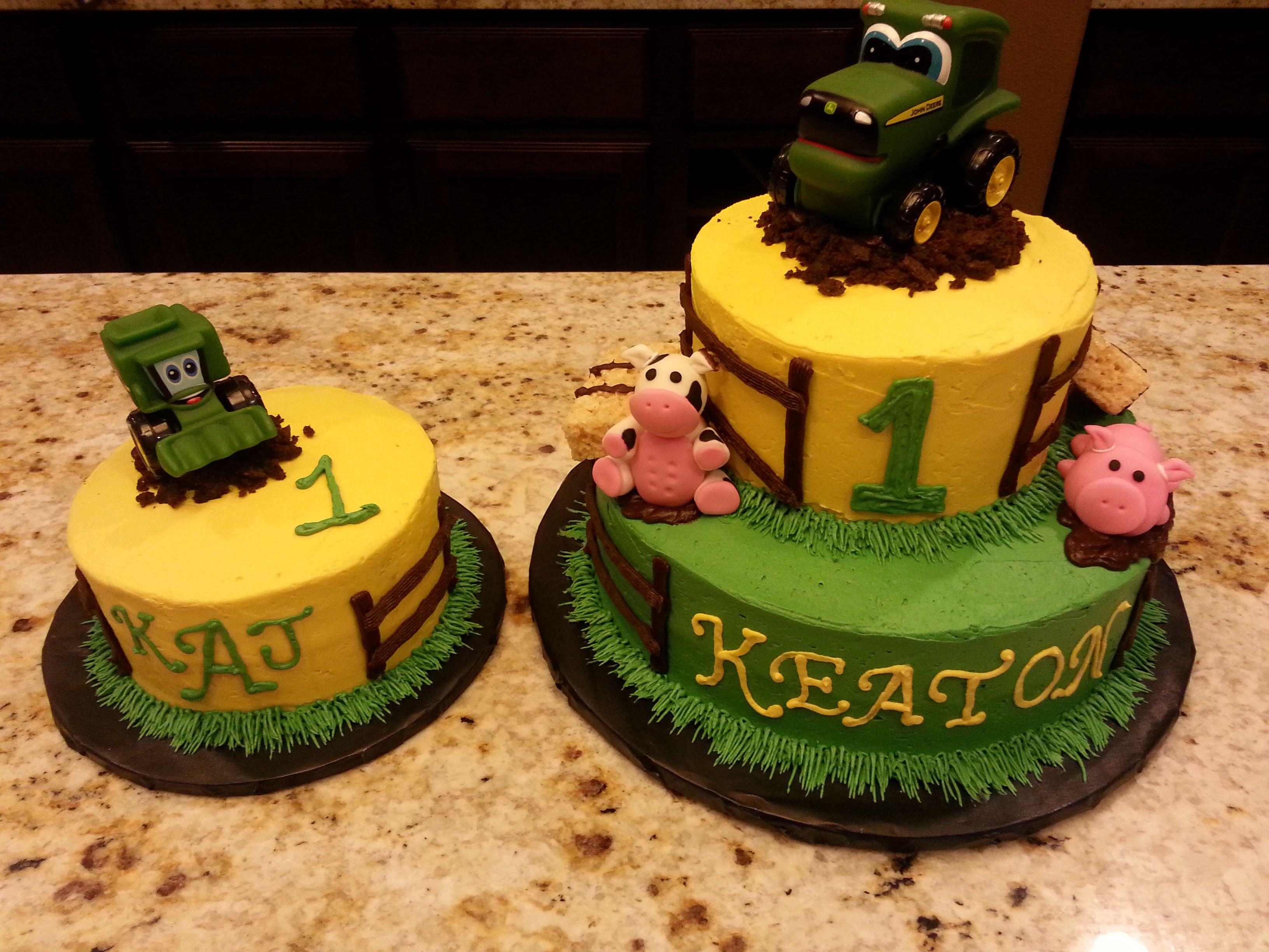 John Deere First Birthday cake John Deere Smash Cake