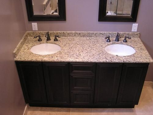Bathroom vanity tops with double sinks ideas pinterest sinks undermount sink and granite - Double sink vanity countertop ideas ...