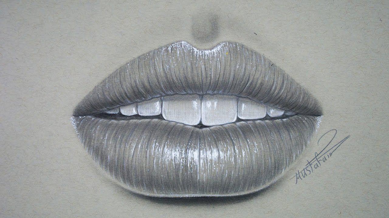 تعليم الرسم بالرصاص تعليم رسم الشفاه بشكل احترافي خطوة بخطوة رسم شفة Lips Drawing Drawings Art
