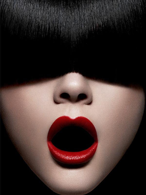 Red Lips By Cyril Lagel Via Behance Red Lipstick Looks Beauty