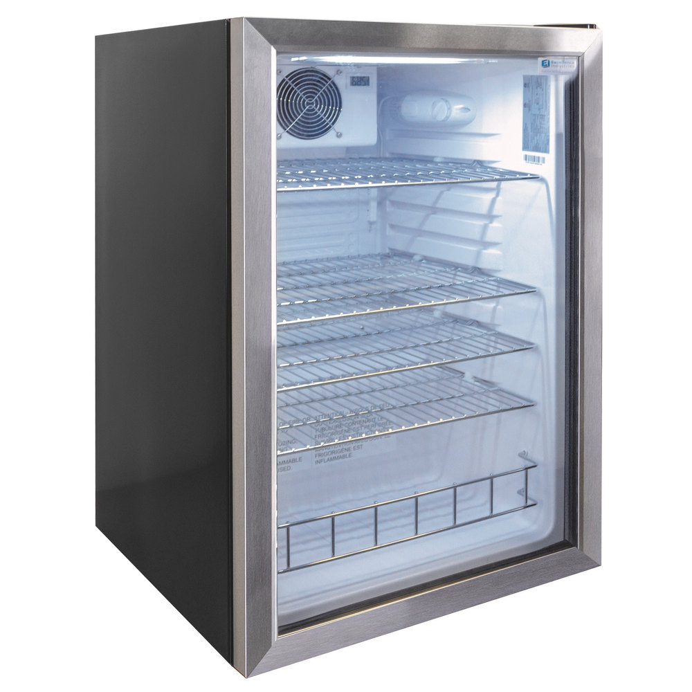 Excellence Emm 4hc Black Countertop Display Refrigerator With