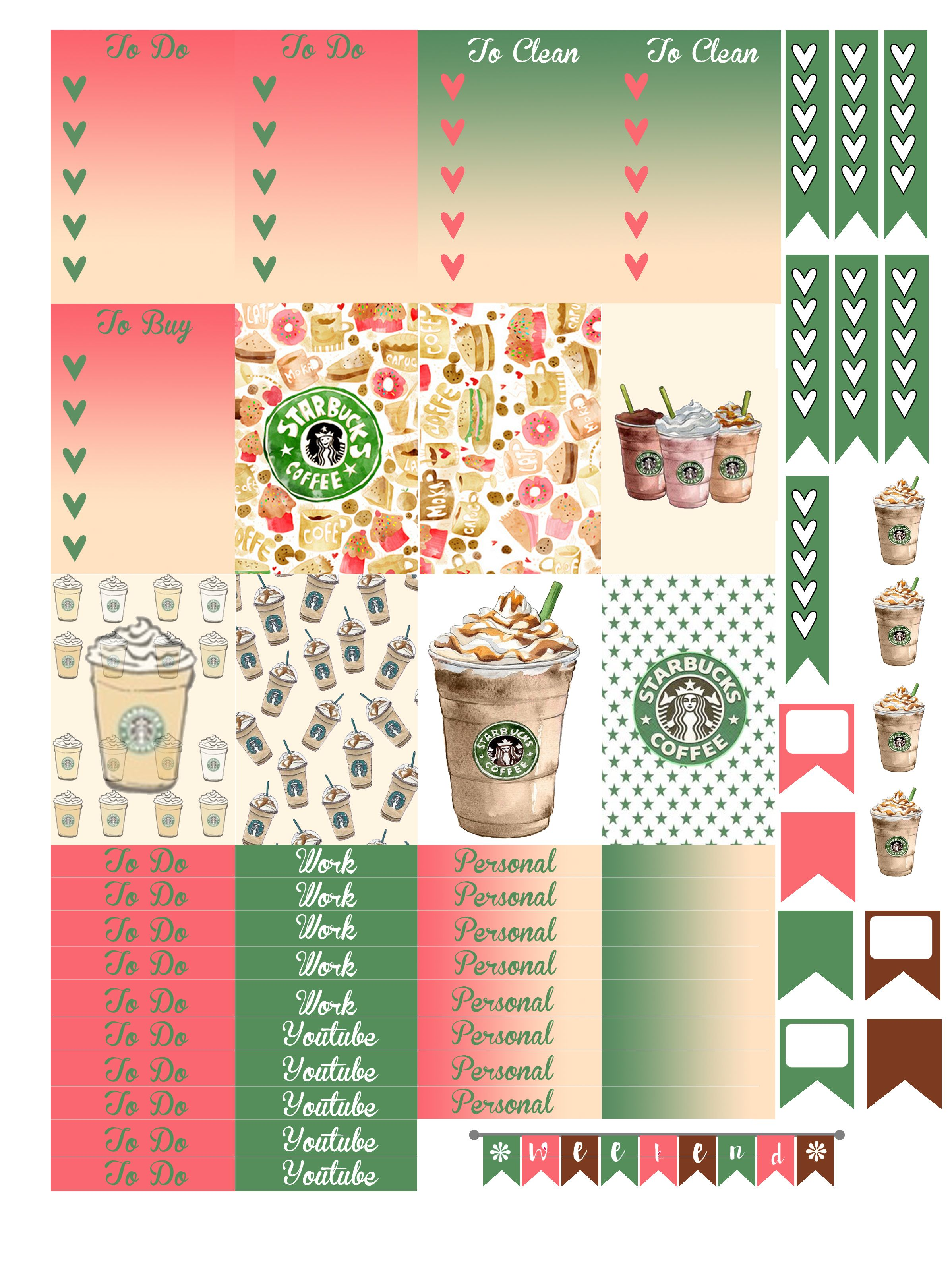 Free Printable Coffee Planners Stickers from Monica Alicia ...