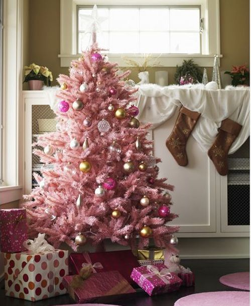 Marvelous Pretty Pink Christmas Tree Always Prefer A Real Tree, But This Is So Cute!