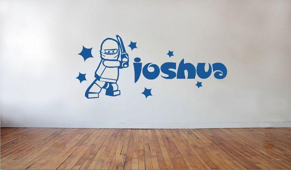 Lego ninjago stars giant personalised wall art sticker boys room playroom in home