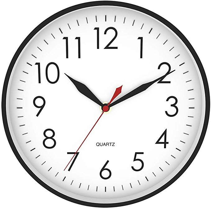 hydy 10 inch large 3d numbers wall clock silent non on wall clocks battery operated id=48079