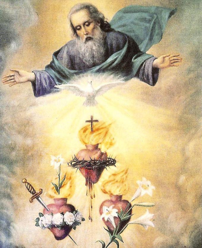 La Sagrada Familia bajo la mirada y complacencia del Altísimo.