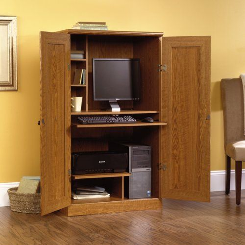 sauder orchard hills computer armoire by sauder features slide home office