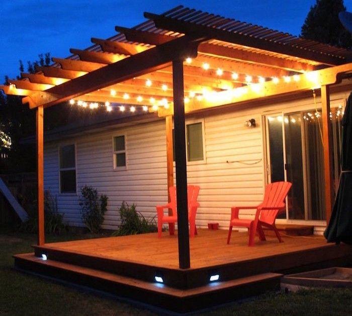 1001 Idees Eclairage Terrasse 60 Idees Et Conseils Pour Un Eclairage Ideal Eclairage Terrasse Construire Une Pergola Pergola
