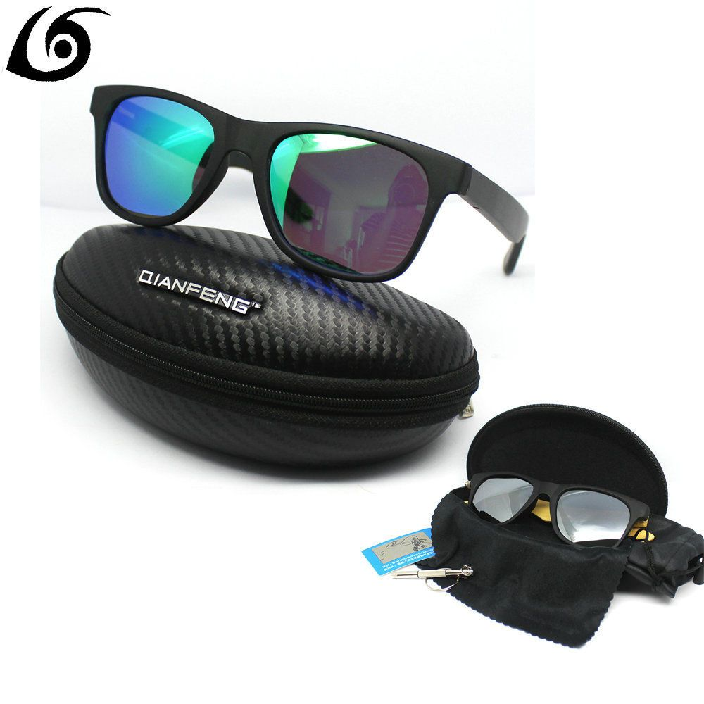 Bamboo Wood Sunglasses in Vintage Style with Plastic Frame and Polarized UV Prot