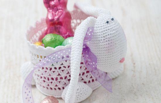 Häkel Dir ein tolles Osterkörbchen als hübsche Oster-Dekoration ...
