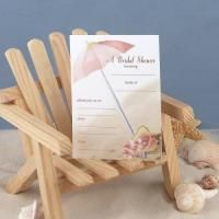 Fill In The Blank Bridal Shower Invitations Feature A Beach Umbrella Design 4 5 8 X 6 1 Package Of 25 Cards And Envelopes