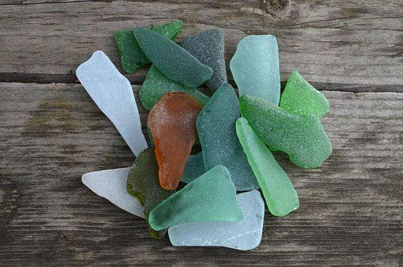 Multicolored Triangle Shaped Sea Glass Sea Glass Mix for Pendant Craft Supply Genuine Sea Glass Authentic Beach Glass Bulk Craft Supplies