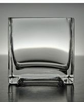 2.99  Clear Glass Square Candle Holder 3in