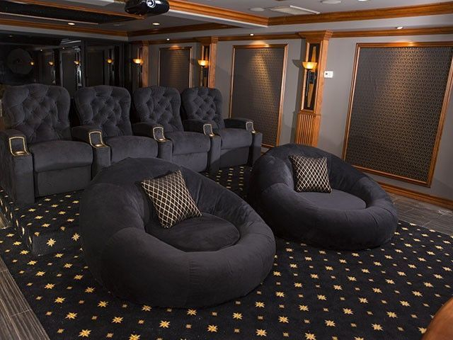 One Of The Most Unique Theater Seats I Have Seen   Jamestown Home Theater  Screen