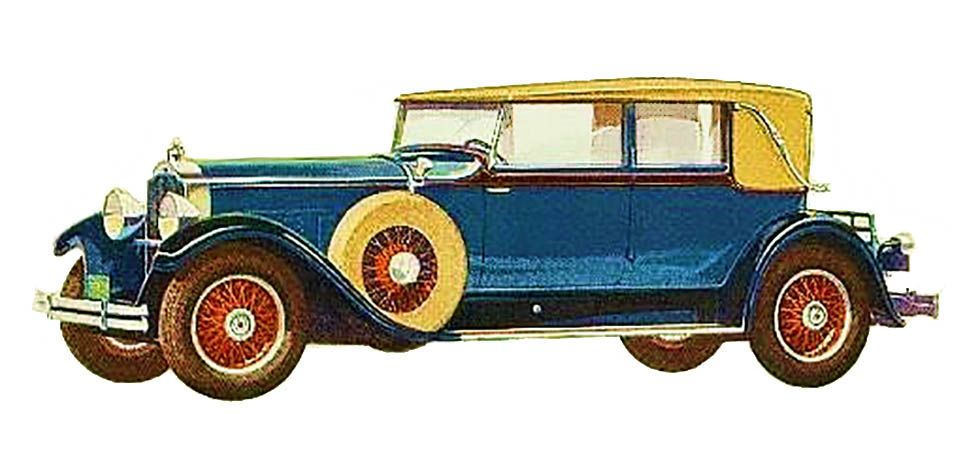 1929 Packard Another Coach built model was this Dietrich Convertible Sedan was a Series 640 car.