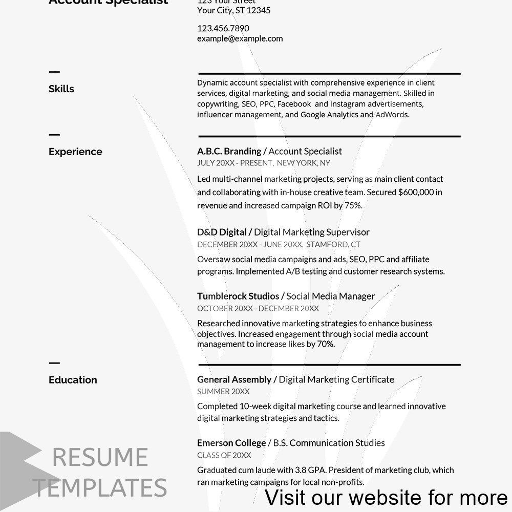 Best resume template download free in 2020 Resume