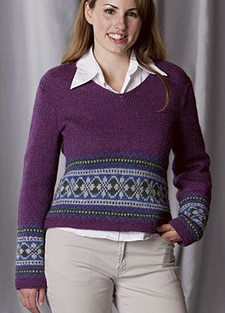 Fair Isle Sweater pattern by Louisa Harding   Yarny Goodness ...