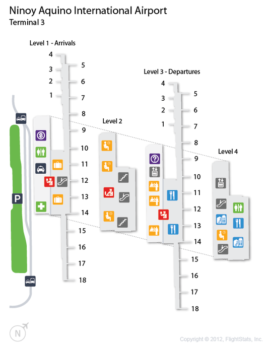 MNL Ninoy Aquino International Airport Terminal Map Philippine