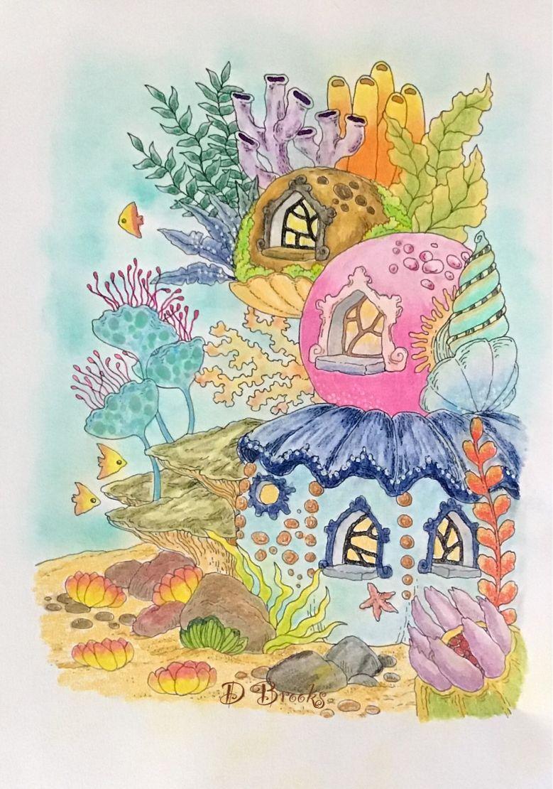 From A Nice Little Town 9 By Tanya Bogema Kleurplaten Voor Volwassenen Kleurplaten Tekenen