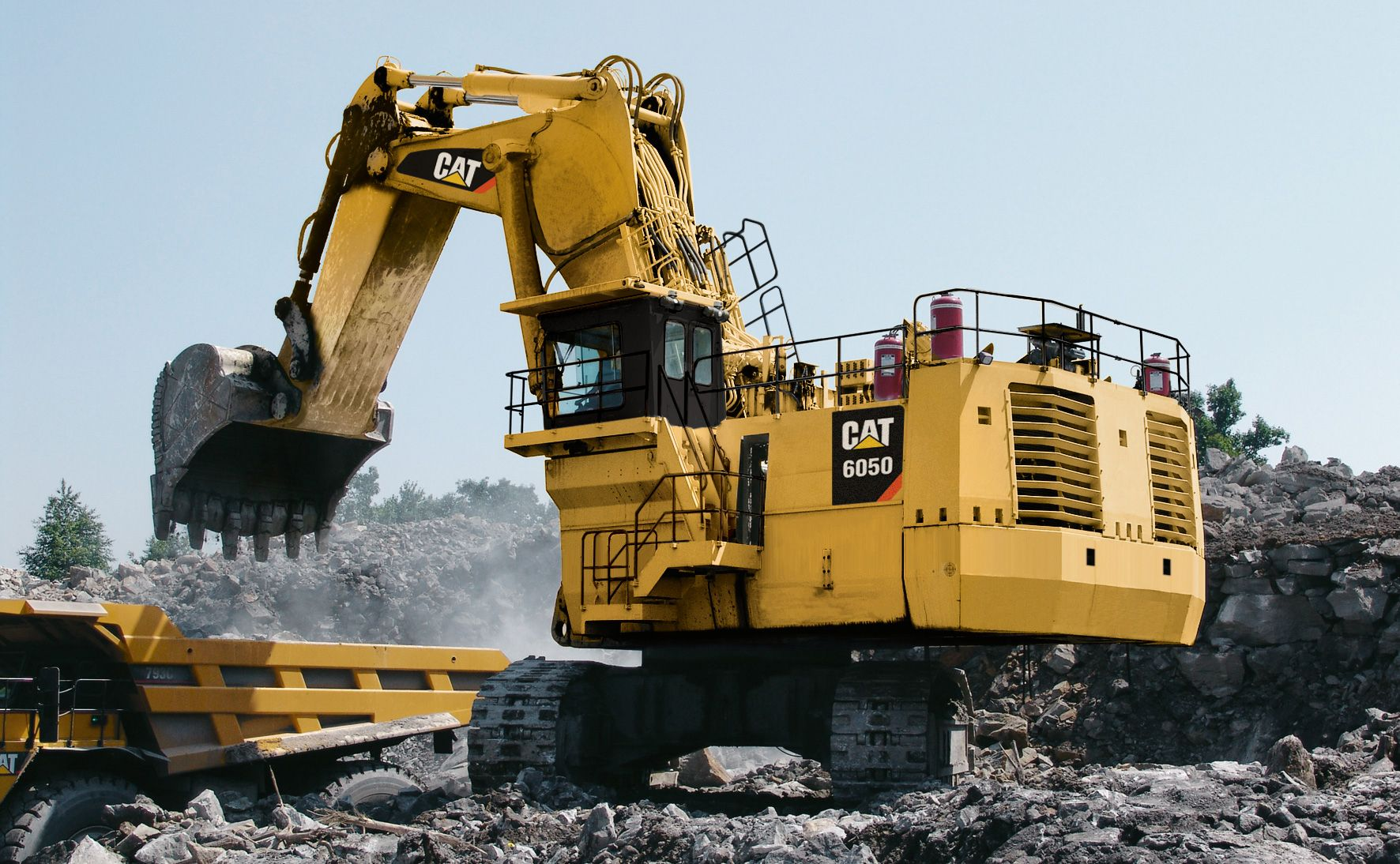 These excavators are designed to handle the most rugged