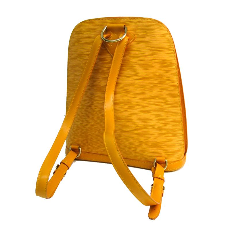 This majestic bag from Louis Vuitton is all that you need to instantly raise your look. Simple and classy, sensation your dress with this Jaune bag. The ever classic ample bag is compose from beautifu... #louis #vuitton #jaune #epi #leather #gobelins #backpack #backpacks