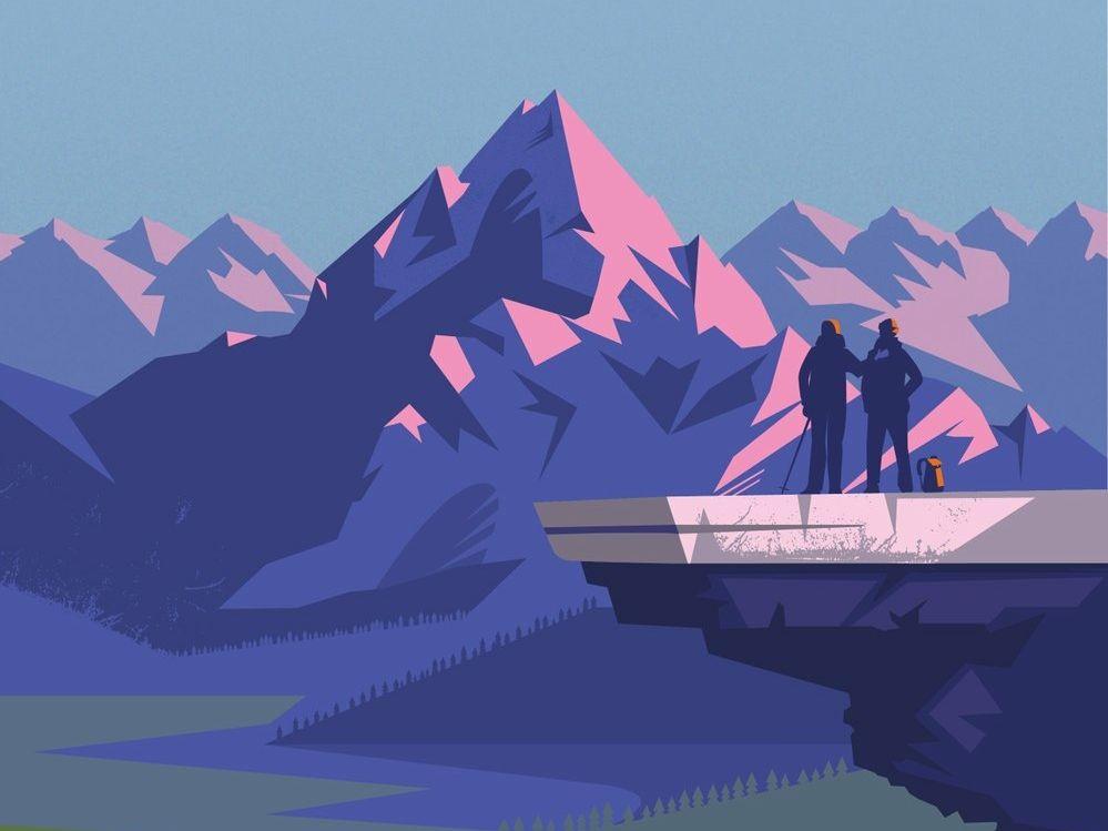 Mountain Illustration Mountain Illustration Graphic Illustration
