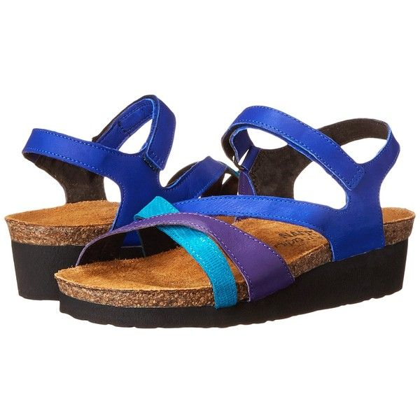 Naot Footwear Sophia (Royal Blue Leather/Purple Leather/Aquamarine... (