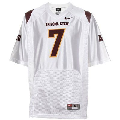 This one too. Nike Arizona State Sun Devils #7 Twill Football Jersey - White