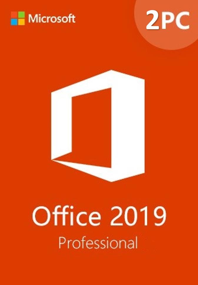 Microsoft Office 2019 Pro 32/64 Bit Retail Install On 2 PC