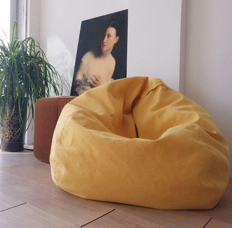 80x90cm Linen Bean Bag Chairs Cover Sofas Lounger Sofa