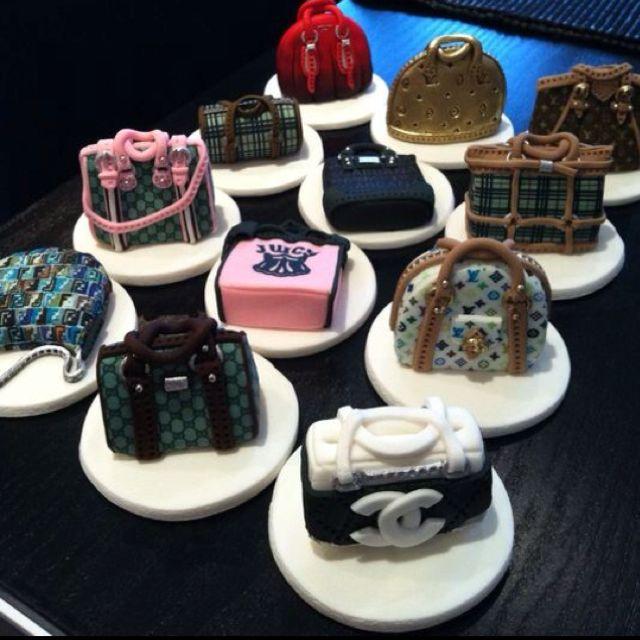 Designer Handbag Cupcake Toppers Wow Cupcakes By Sophia In Uk