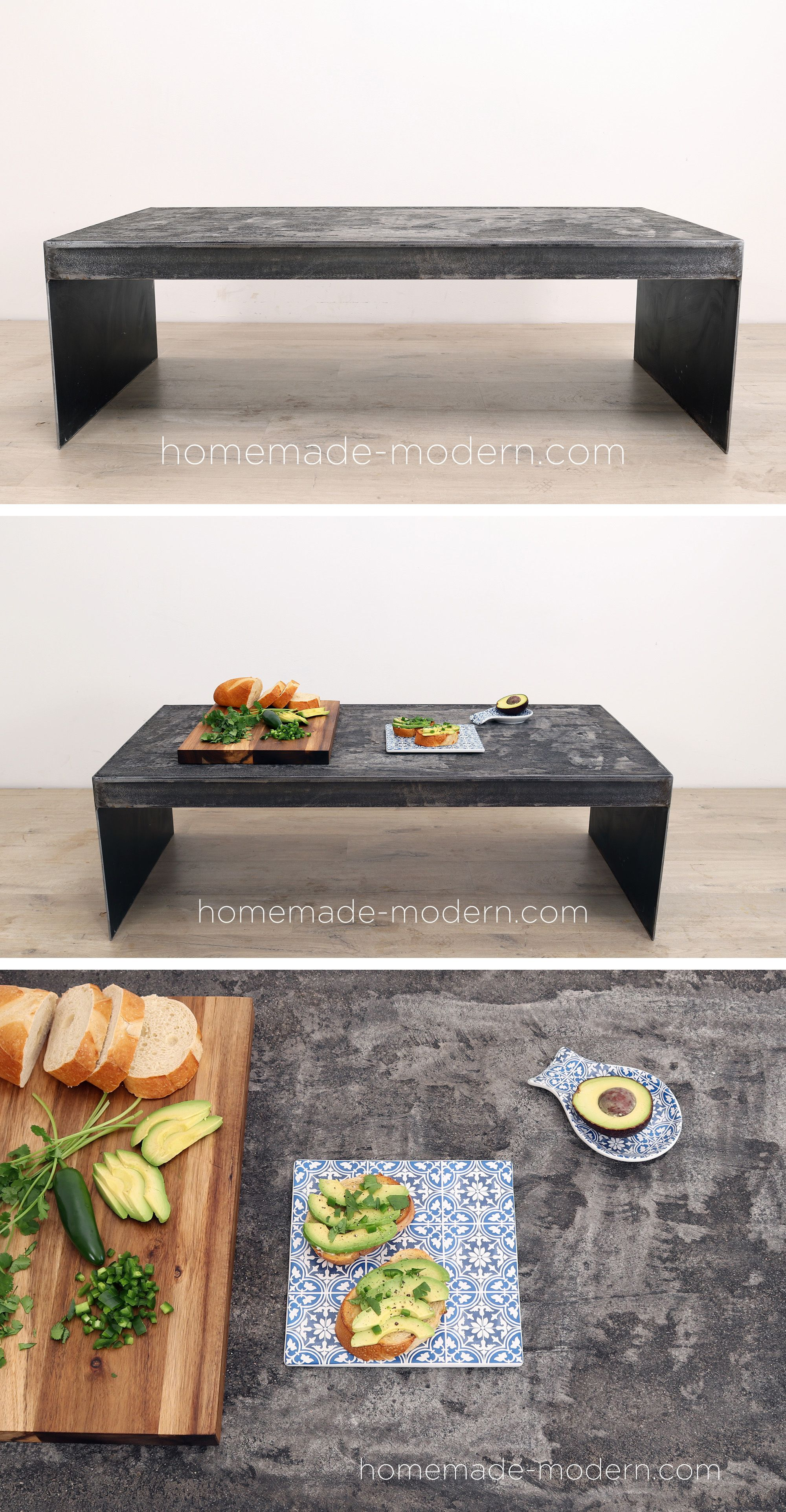 Black Concrete Table Homemade Modern Modern Diy Modern Mailbox [ 3848 x 2000 Pixel ]