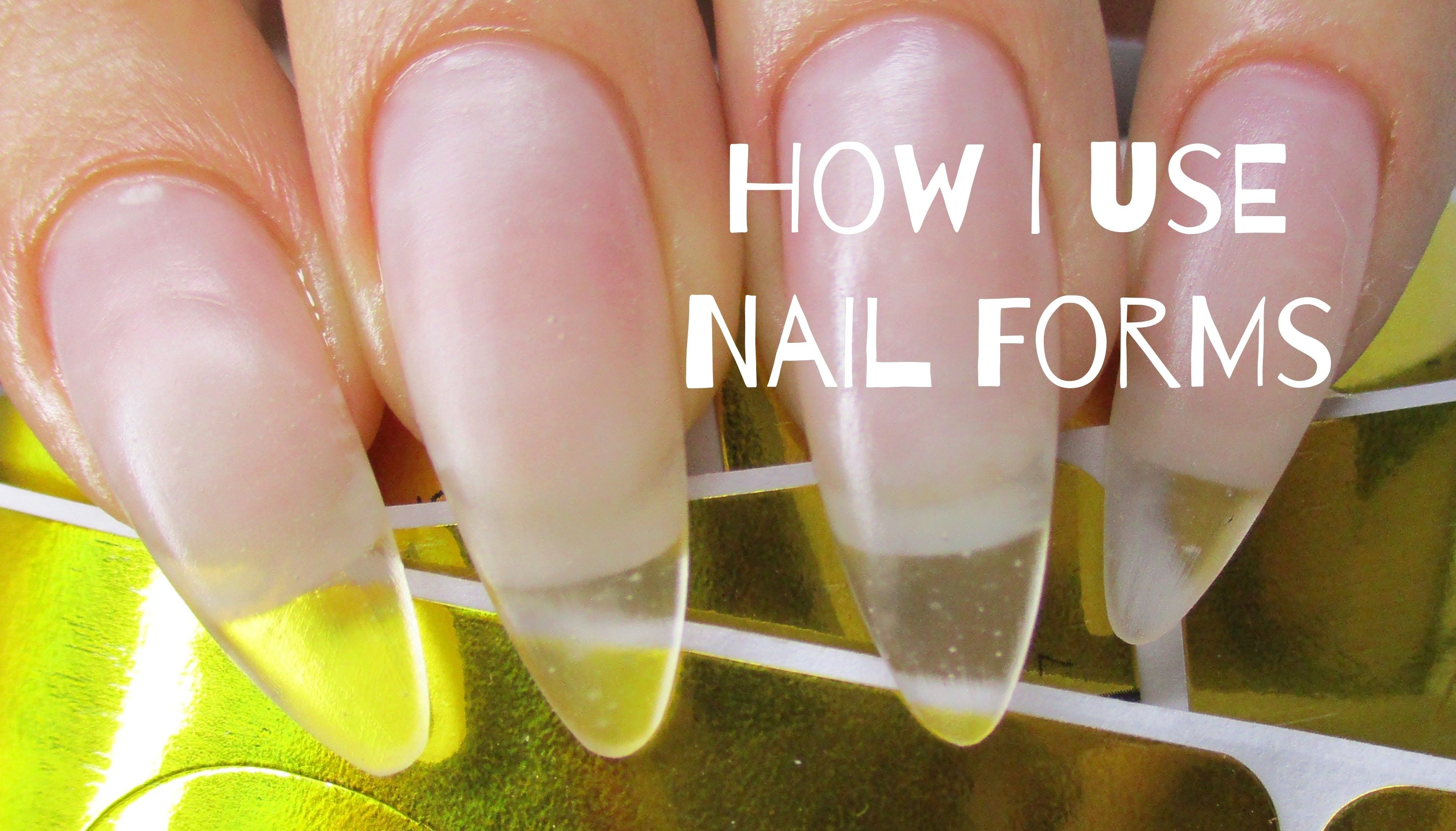 How to Easily use nail forms in 2019 Gel nails, Gel