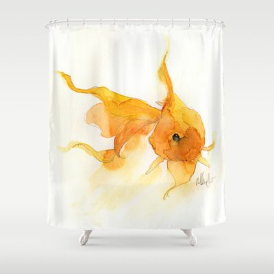 Goldfish Shower Curtain Neat Shower Curtain Curtains Goldfish