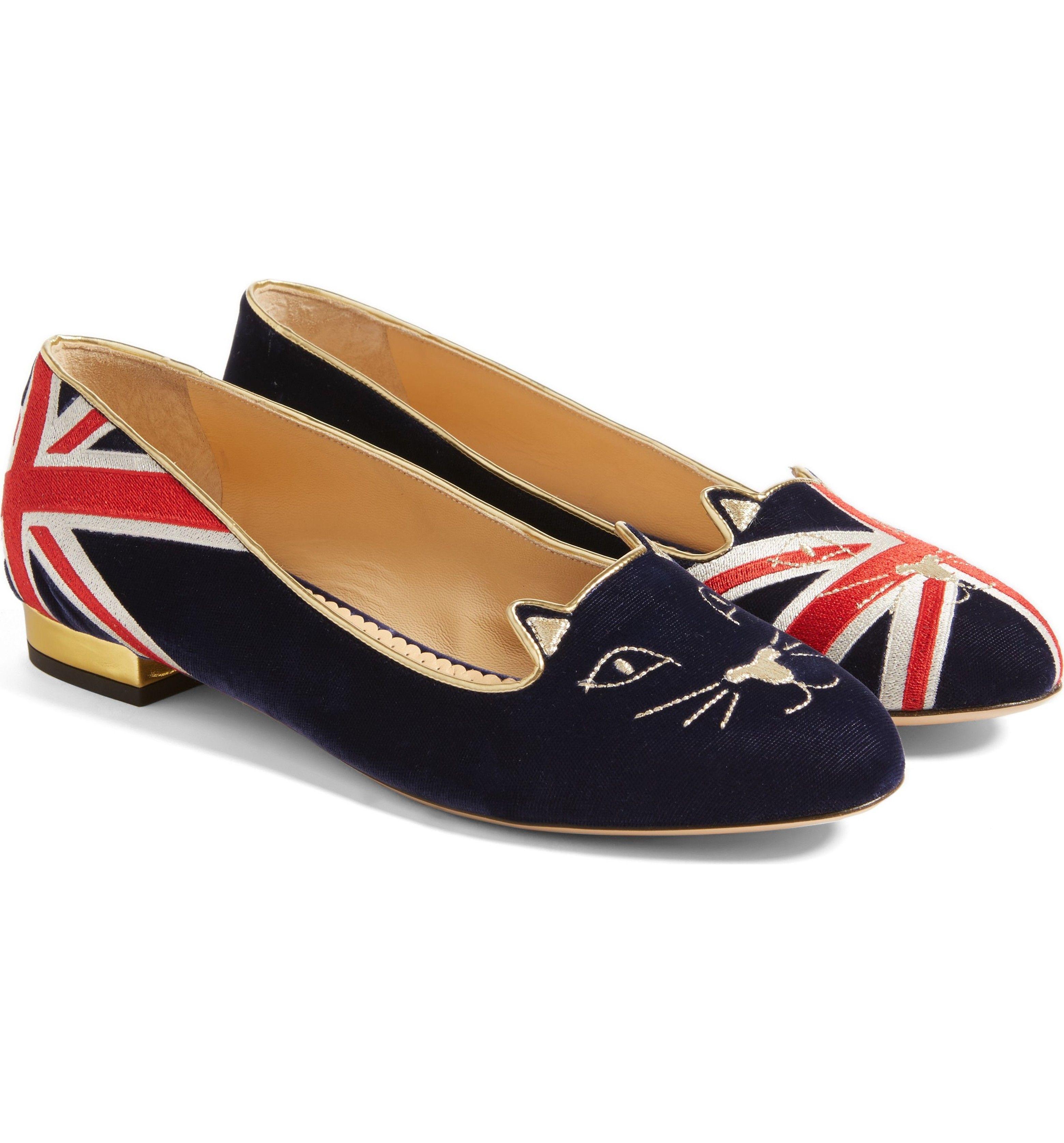 e92a8f7b0dd5b Main Image - Charlotte Olympia Great Britain Kitty Flat (Women ...