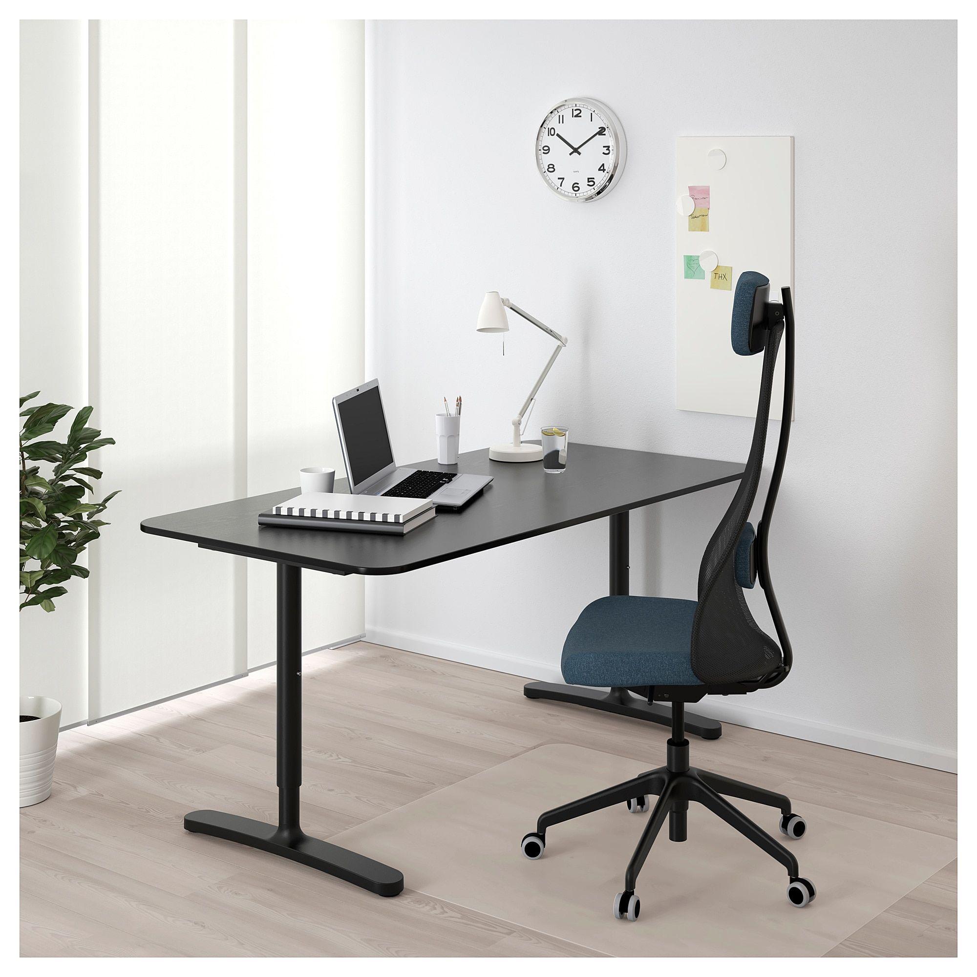 Ikea Bekant Desk Black Stained Ash Veneer Ikea Bekant Ikea White Desks