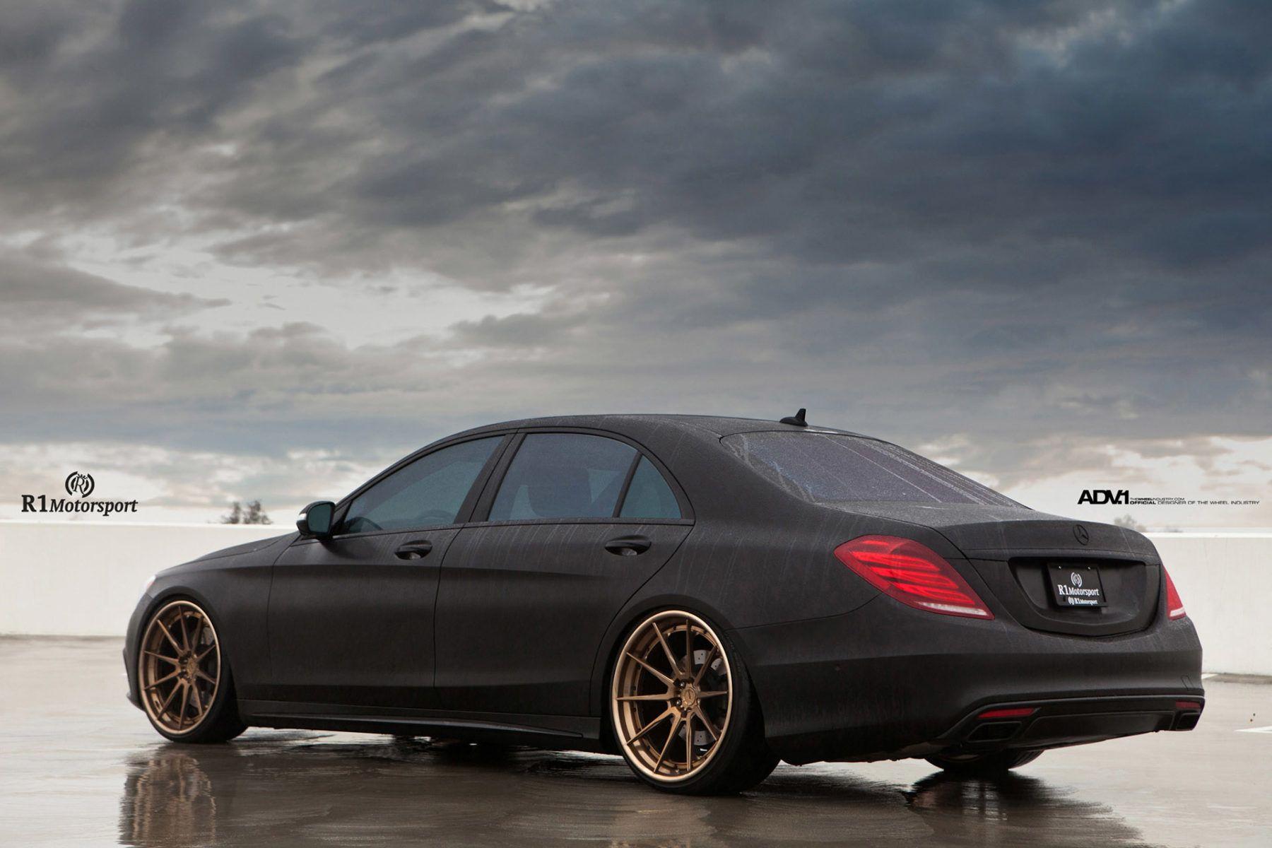 Matte Black Mercedes Benz S550 Adv10 Track Spec Cs Wheels Adv 1