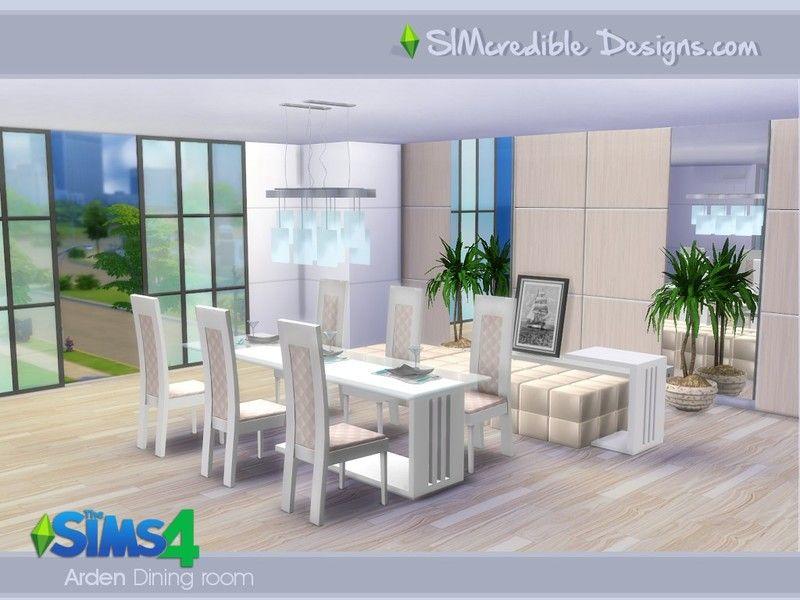 We Brought This Time For Your Sims4 Simple Modern But Stylish Set It Has Dining Room