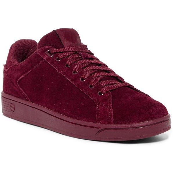 Red suede shoes, Burgundy sneakers