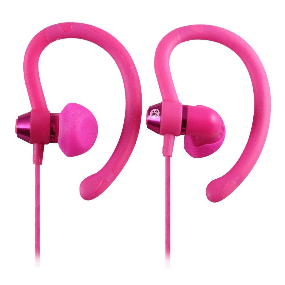Moki International 90 Degree Sports Earphones Pink