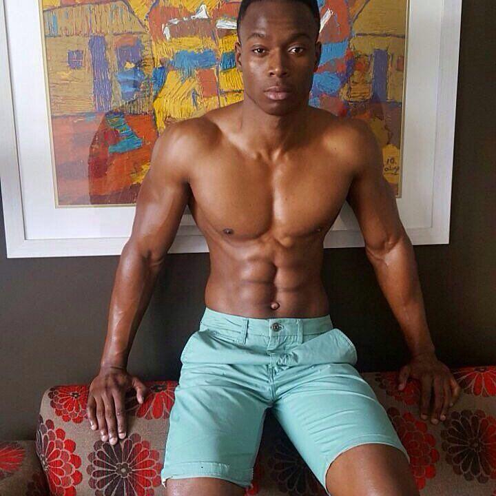 Muscle Black Guy Huge Cut Dick