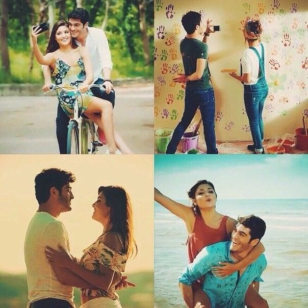 Haymur Collage Wedding Couple Cartoon Cute Love Stories Hayat And Murat