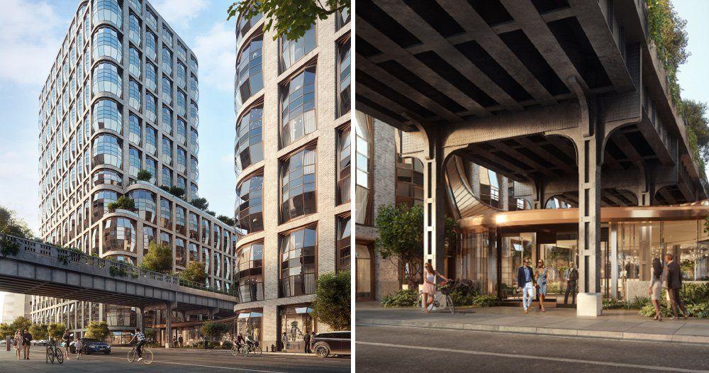 Heatherwick Studio Reveals Lobby For Lantern House Residences In New York Roof Structure Lobby Design Lanterns