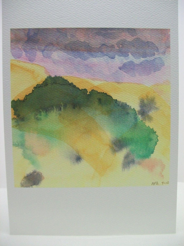 Original Watercolor Artwork Card