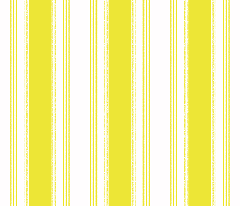 French Ticking in citron - domesticate - Spoonflower