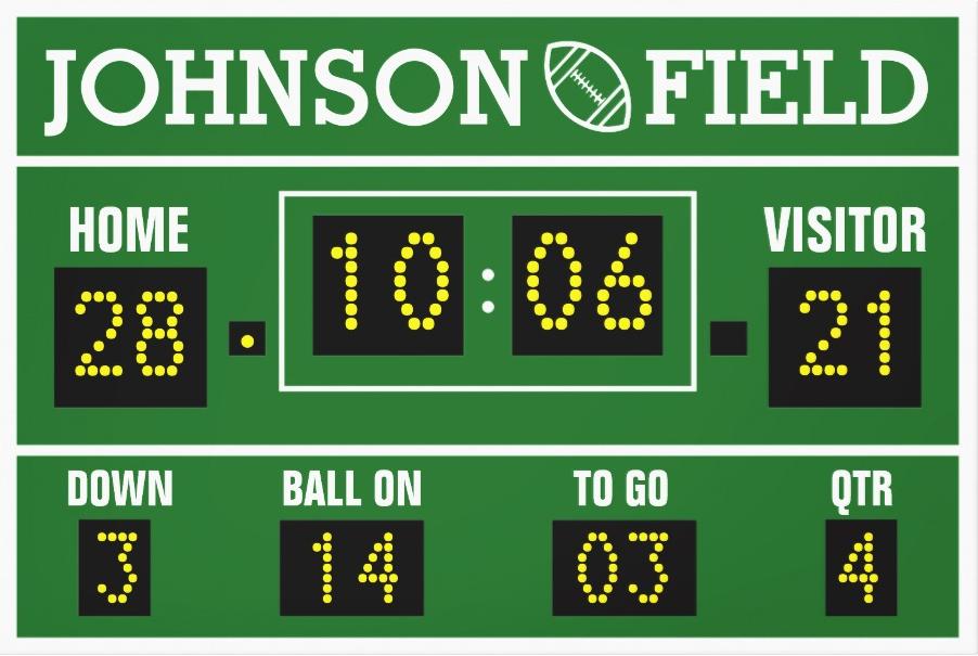 Personalized Football Scoreboard Football Scoreboard