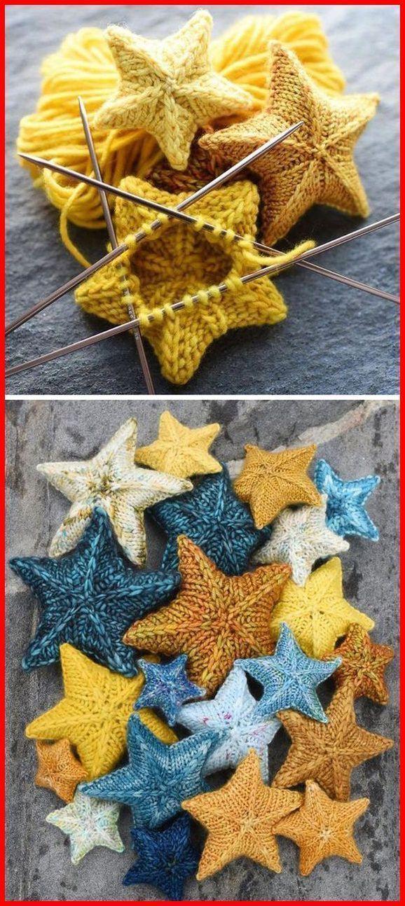 Knit Stars - Free Pattern - Häkeln/Stricken - -  - #Free #HäkelnStricken #knit...,  #free #Hä... #knittedtoys
