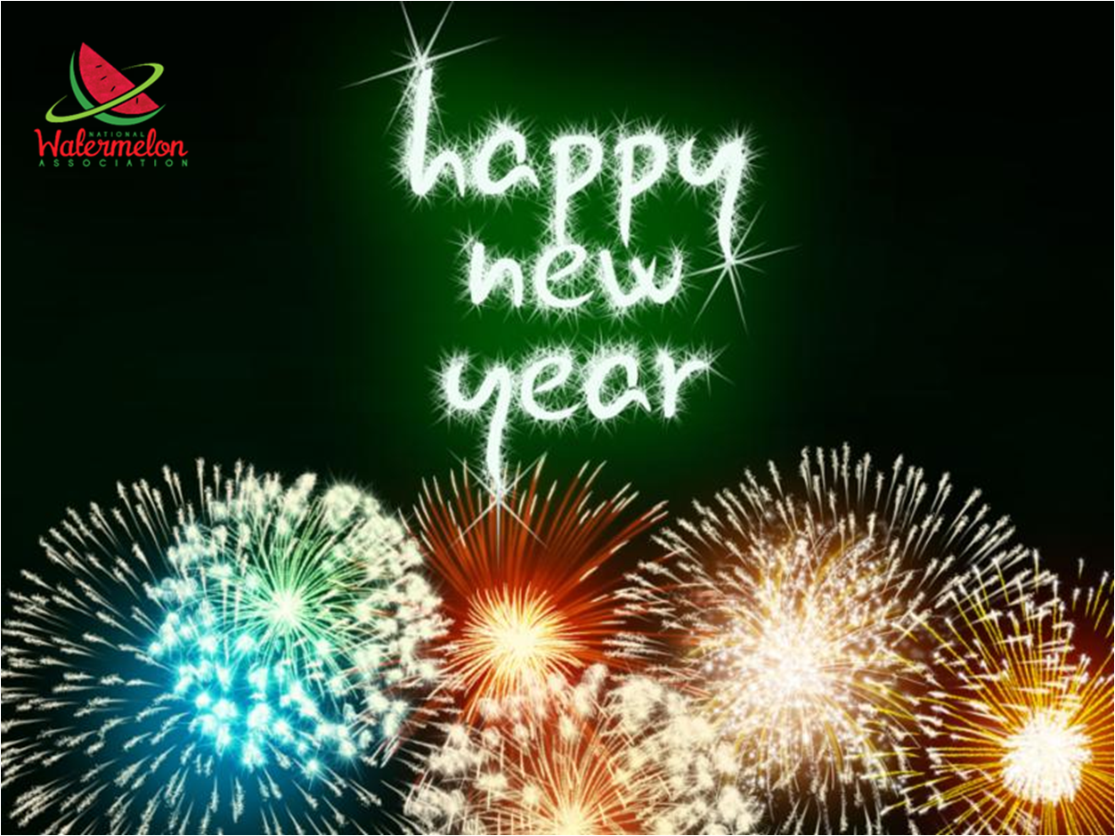 Best wishes for a Happy New Year! Love from your National Watermelon Association