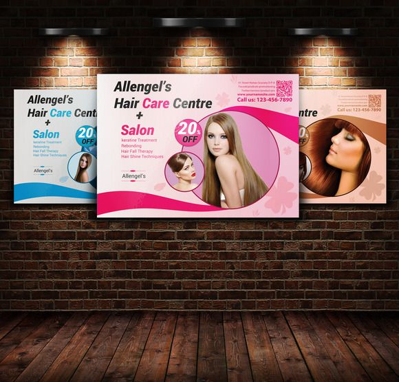Hair Salon Flyer Template By Leza On Creative Market  Stuff To